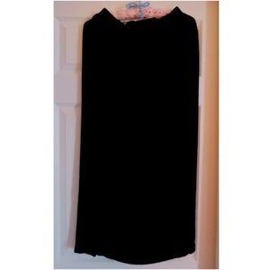 Merona Long Black Velvet Skirt